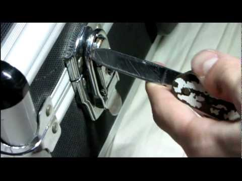 How to open a briefcase lock without the key