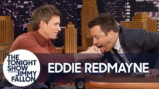 Eddie Redmayne Performs a Magic Trick for Jimmy Fallon
