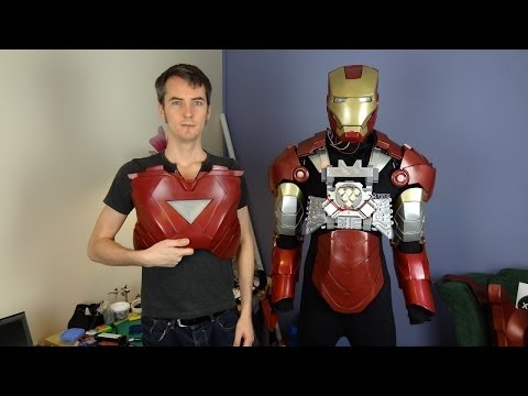 XRobots - Iron Man Cosplay Torso Mechanics and Strapping PART2, for my life sized costume armour