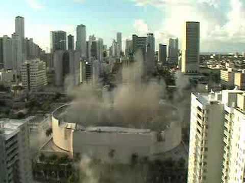 Miami Arena Roof Implosion Youtube
