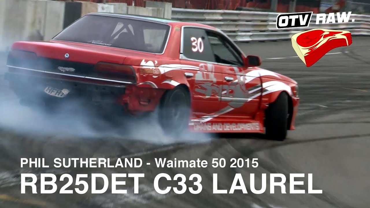 RAW: Phil Sutherland RB25DET C33 Laurel - D1NZ Waimate 50 (2015)