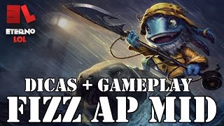 FIZZ AP MID - Dicas + Gameplay - League of Legends