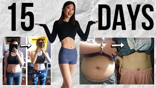 15-DAY BEFORE & AFTER RESULTS USING EMI WONG'S AB & BELLY BURN WORKOUT PROGRAM
