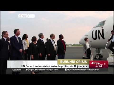 UN coucil arrive to protests in Burundi