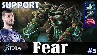 Fear - Tiny Offlane   SUPPORT   Dota 2 Pro MMR Gameplay #5