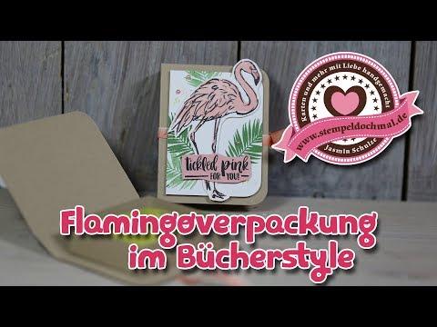 Tutorial: Flamingoverpackung im Bücherstyle mit Produkten von Stampin' Up!