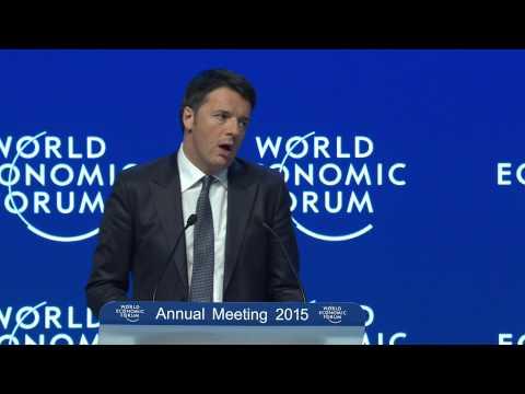 Italian Prime Minister Matteo Renzi at Davos 2015