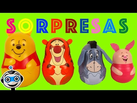 Matrioskas De Winnie Pooh Con Huevos Sorpresa