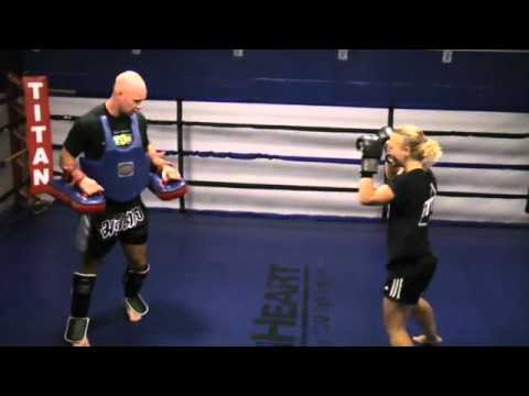 Women's Kickboxing (kick and knee pad training) Image 1