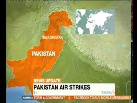 Pakistan bombs militant hideouts in North Waziristan and Khyber area