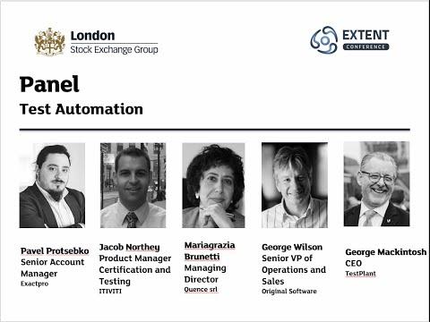 EXTENT-2016: Test Automation - Panel