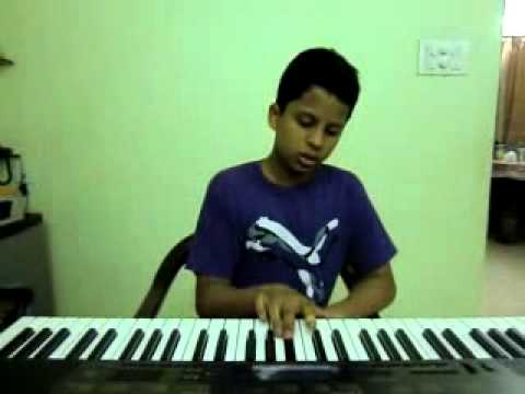 old telugu song oohalu gusagusalade from bandipotu on keyboard...