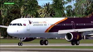 Cambodia Angkor Air Airbus A-321 VN-A351 ( FSX-Traffic Aircraft) Tan Son Nhat- Siem Reap.