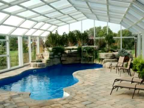 Retractable pool enclosures by covers in play youtube - Swimming pool screen enclosures cost ...