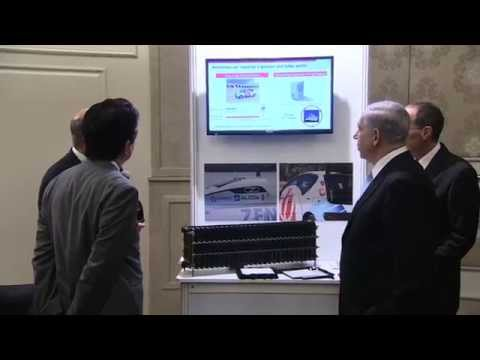 PM Netanyahu and Japanese PM Abe Attend Innovation Exhibition in Jerusalem