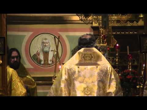 Divine Liturgy in St. Nicholas Russian Orthodox Patriarchal Cathedral in New York City