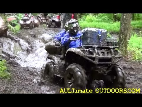 ATV WEEKEND! MUDDING AND CAMPING! NEWTON FALLS NY PT 1