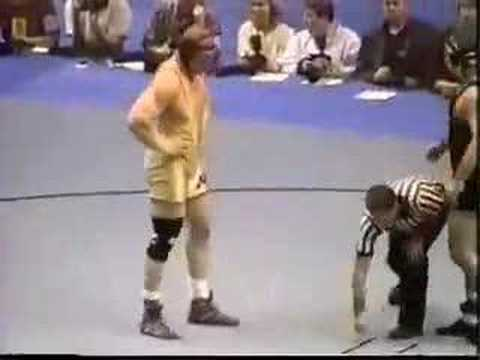 2000 NCAA: Brock Lesnar (Minn) vs Wes Hand (Iowa) Pt 1 Video