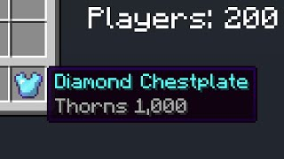 Minecraft UHC but everyone has THORNS 1,000 armor...