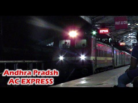 ANDHRA PRADESH AC Express : Post Midnight Arrival at NAGPUR (Indian Railways)