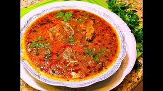 Суп ХАРЧО. Грузинская кухня. Soup Kharcho.
