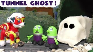 Thomas and Friends Mystery Ghost Game with Paw Patrol Mighty Pups and funny Funlings TT4U