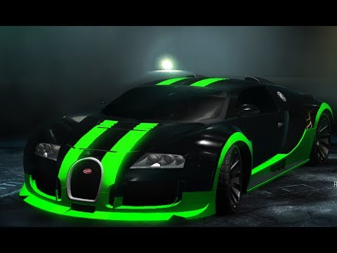 police chase in a bugatti veyron need for speed undercover - Green Bugatti Car