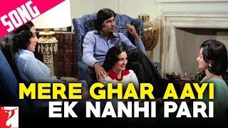 Mere Ghar Aayi Ek Nanhi Pari Song | Kabhi Kabhie | Amitabh Bachchan | Waheeda Rehman | Neetu Singh
