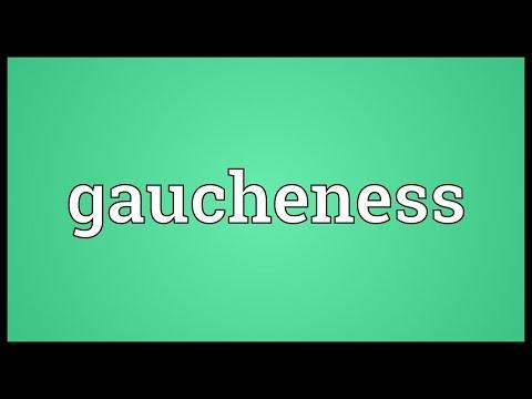 Header of gaucheness