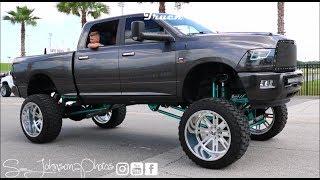 Truck Meet Daytona beach 2k18 (lifted truck, big rims, diesels, duallys,mud tires) in hd