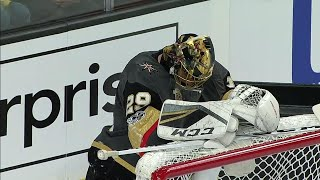 Fleury shaken up after collision with Mantha