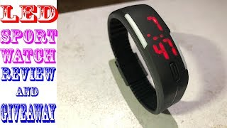 LED Sport Digital Watch-Set Time/Date   Review And Giveaway   2019