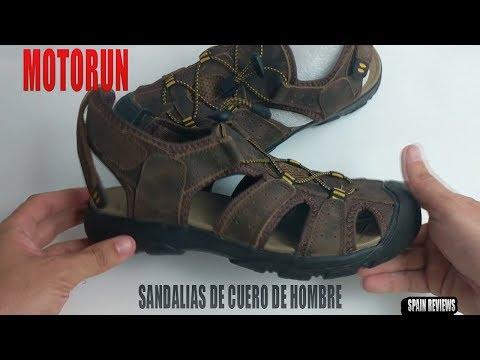 Motorun - Sandalias de hombre para verano de cuero