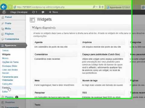 Instalando o plugin WOW Slider e adicionando na page