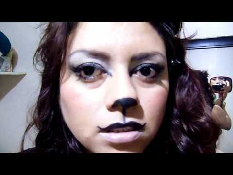 maquillage de chat pour l 39 halloween youtube. Black Bedroom Furniture Sets. Home Design Ideas