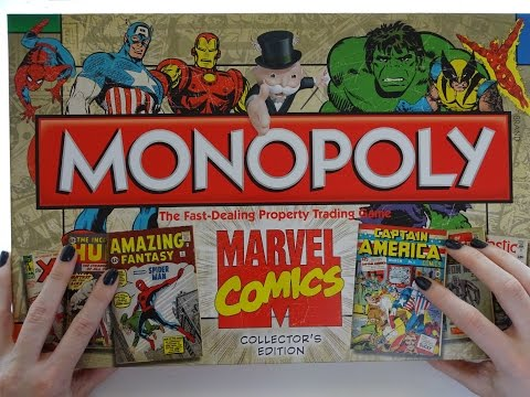 ASMR Unboxing - Marvel Comics Monopoly! Whispered with Scratching & Crinkling