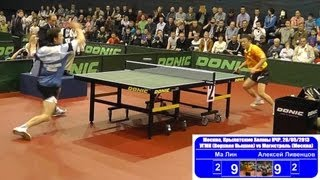 MA Lin vs Alexey LIVENTSOV 1/4 Russian Premier League Playoff Table Tennis