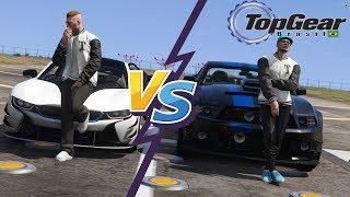 GTA V : TOP GEAR | Mustang GT do Allisson vs. BMW I8, SUPER INSANO !