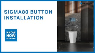 Geberit Sigma80 in wall cistern button installation