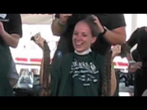 Patty's Long Hair Headshave - St Baldrick's - September 11, 2011 video