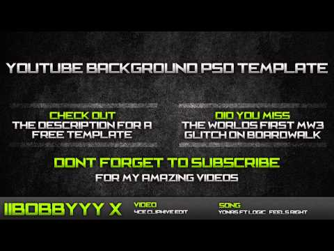 Template #2 | Free Youtube Background (.PSD)