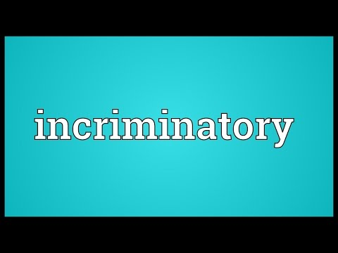 Header of incriminatory