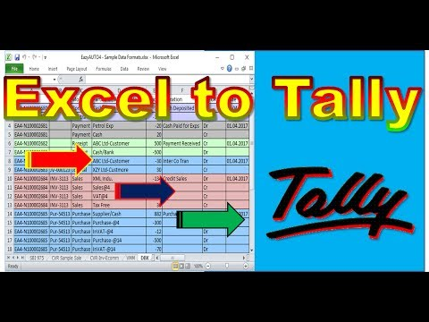 Import Excel Daybook In tally accounting software ( Tally.ERP9 / Tally 7.2 )