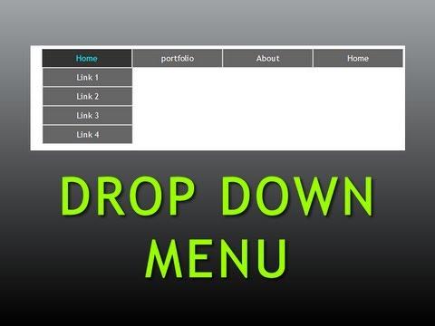 Dreamweaver Tutorial : Pure CSS Drop down menu , Part -1 ...