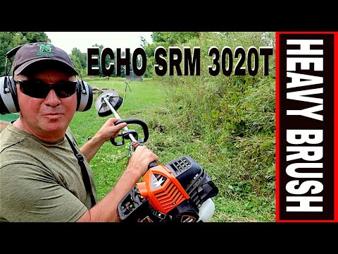 JUST RELEASED ECHO SRM-3020T BRUSH TRIMMER REVIEW- TOOL REVIEW TUESDAY!