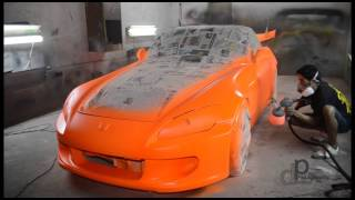 Dipping S2000 with Plasti Dip Firebelly Orange