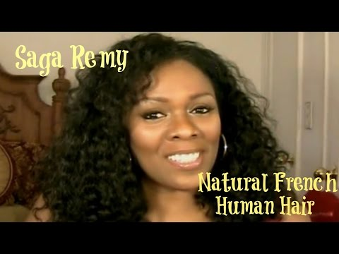 Indian Remy Hair Sew-In  ~  Saga Remy Human Weaving Hair Natural French