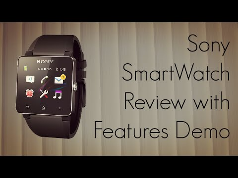 Sony Smartwatch Review With Features Demo - Find Phone, Music Player, Call Handling video