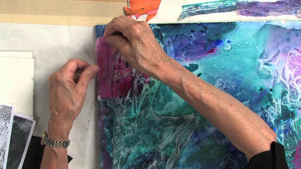 Acrylic Paint Background Techniques