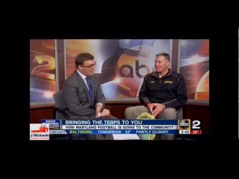 Maryland Head Football Coach Randy Edsall on WMAR-TV